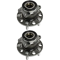 Rear, Driver and Passenger Side Wheel Hub and Bearing Assembly, For 4WD