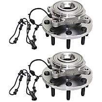 Front Wheel Hub Bearing Assembly Driver and Passenger Side For 4WD Models