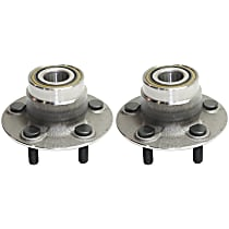 Rear, Driver and Passenger Side Wheel Hub and Bearing Assembly For FWD with Non-ABS