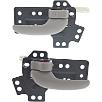 Front or Rear, Driver and Passenger Side Interior Door Handle, Gray
