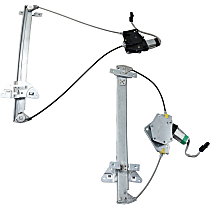Front and Rear, Passenger Side Power Window Regulator, With Motor - Quad Cab