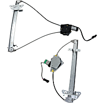 Front and Rear, Driver Side Power Window Regulator, With Motor - Quad Cab
