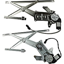 Front, Driver and Passenger Side Power Window Regulator, With Motor, Regular/Club Cab