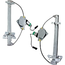 Rear, Driver and Passenger Side Power Window Regulator, With Motor - Quad Cab