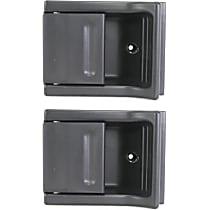 Rear, Driver and Passenger Side Interior Door Handle, Black