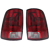 Driver and Passenger Side Halogen Tail Light, With bulb(s) - Standard Type