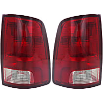 CAPA Certified Driver and Passenger Side Tail Light, With bulb(s)