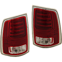 Driver and Passenger Side LED Tail Light, With bulb(s) - Fits Models With Express Trim, Premium Type, Chrome Interior, CAPA CERTIFIED
