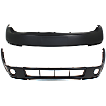 CAPA Certified Front, Upper and Lower Bumper Cover, Primed, Wagon