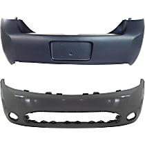 Bumper Cover - Front and Rear, 2 Pieces, Primed, For Coupe Models Built From September 03, 2008
