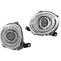 Driver and Passenger Side Halogen Headlight, With Bulb(s) - Hatchback, CAPA CERTIFIED