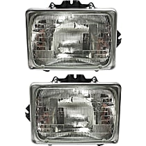 Driver and Passenger Side Headlight, With bulb(s) - Sealed Beam Type