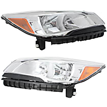 Driver and Passenger Side Halogen Headlight, With bulb(s) - Except Titanium Models, CAPA CERTIFIED