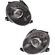 Driver and Passenger Side Halogen Headlight, With Bulb(s) - Hatchback