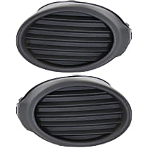 Driver and Passenger Side Fog Light Cover, Textured Dark Gray