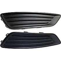 Driver and Passenger Side Fog Light Cover, Textured Black