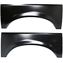 Replacement Wheel Arch Repair Panel - Driver and Passenger Side, Rear, Direct Fit, Set of 2