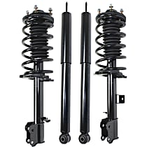 Front and Rear, Driver and Passenger Side Shocks and Loaded Struts - Set of 4
