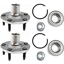 Front, Driver and Passenger Side Wheel Hub Bearing included - Set of 2