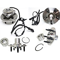 Front and Rear, Driver and Passenger Side Wheel Hub Bearing included - Set of 4