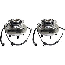 Front, Driver and Passenger Side Wheel Hub and Bearing Assembly, For 4WD
