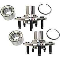 Rear, Driver and Passenger Side Wheel Hub With Tapered bearing - Set of 2