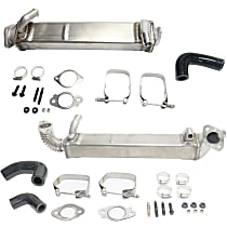 Replacement SET-REPF382303-2 EGR Cooler - Stainless Steel, Direct Fit, Kit