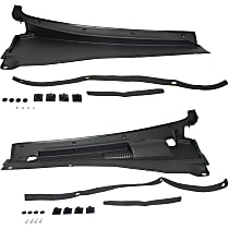 Replacement SET-REPF400301 Wiper Cowl Grille - Black, Direct Fit