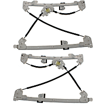 Front, Driver and Passenger Side Power Window Regulator, Without Motor - Super Crew