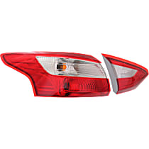 Driver Side, Inner and Outer Tail Light, With bulb(s), Sedan