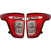 Driver and Passenger Side Tail Light, With bulb(s) - Clear & Red Lens, Type 1, CAPA CERTIFIED