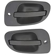 Front, Driver and Passenger Side Exterior Door Handle, Black