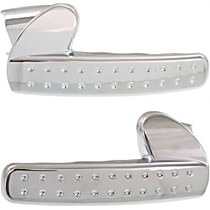 Front, Driver and Passenger Side Interior Door Handle, Chrome