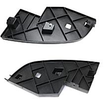 Front, Driver and Passenger Side Bumper Filler, Black
