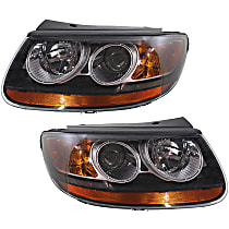 Driver and Passenger Side Headlight, With bulb(s) - From 7-11-07