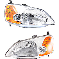 Driver and Passenger Side Headlight, Without bulb(s) - Sedan, CAPA CERTIFIED
