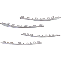 Front, Driver and Passenger Side, Upper and Lower Bumper Trim, Chrome