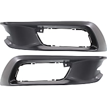 Fog Light Trim - Driver and Passenger Side, Textured Black, Sedan
