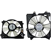 A/C Condenser and Radiator Fan Assembly - Driver and Passenger Side, V6 Engine Model