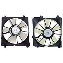 A/C Condenser and Radiator Fan Assembly - Driver and Passenger Side, 4 Cyl. Engine