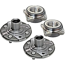 Front and Rear, Driver and Passenger Side Wheel Bearing Assembly
