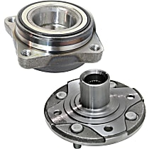 Front, Driver or Passenger Side Wheel Hub, 2-Piece Kit