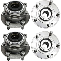 Front and Rear, Driver and Passenger Side Wheel Hub and Bearing Assembly, For AWD with 4-Wheel ABS