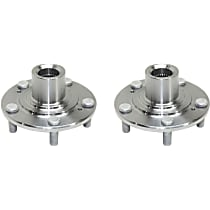 Front, Driver and Passenger Side Wheel Hub Without Bearing - Set of 2