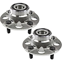 Rear, Driver and Passenger Side Wheel Hub And Bearing Assembly, For FWD, Rear Drum, Non-ABS