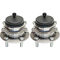 Rear, Driver and Passenger Side Wheel Hub and Bearing Assembly, For FWD with 4-Wheel ABS