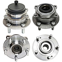 Front and Rear, Driver and Passenger Side Wheel Hub and Bearing Assembly, For FWD with 4-Wheel ABS