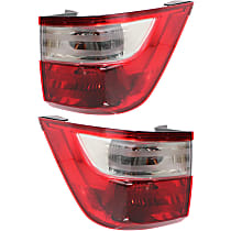 CAPA Certified Driver and Passenger Side, Outer Tail Light, With bulb(s)