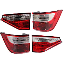 CAPA Certified Driver and Passenger Side, Inner and Outer Tail Light, With bulb(s)
