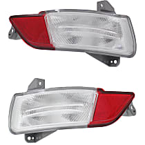 Replacement Back Up Light - SET-REPH731307Q - Driver and Passenger Side, Direct Fit, CAPA Certified